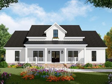 Country Ranch House Plan, 001H-0236