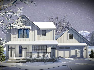 Small Country House Plan, 020H-0458