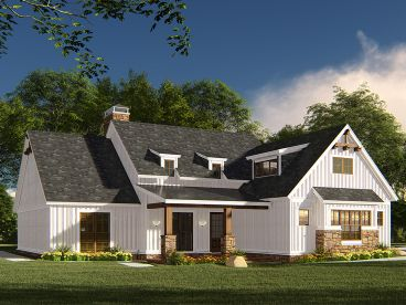 Country Ranch House Plan, 074H-0113