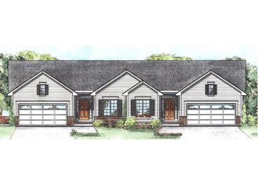 Traditional Duplex Plan, 031M-0072