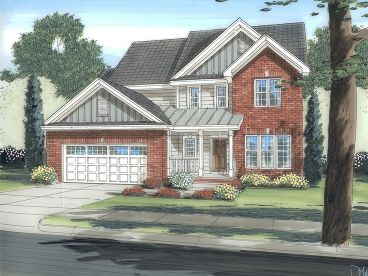 2-Story House Plan, 050H-0091