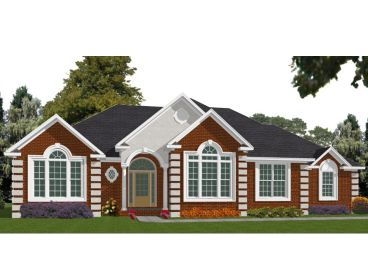 Traditional Ranch Home Plan, 073H-0030
