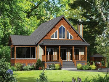 Small Country House Plan, 072H-0218