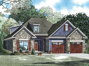 Craftsman House Plan, 025H-0272