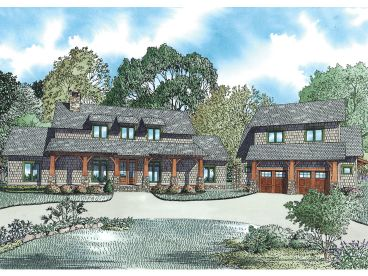 Craftsman Home Plan, 025H-0312