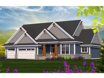 Craftsman House Plan, 020H-0378