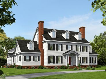 Colonial House Plan, 062H-0064