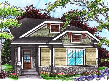 Bungalow House Plan, 020H-0234