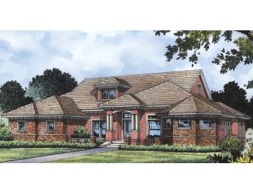 Mediterranean Home Plan, 043H-0160