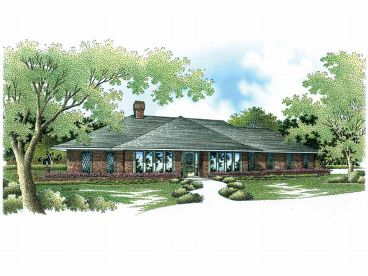 Ranch House Plan, 021H-0144