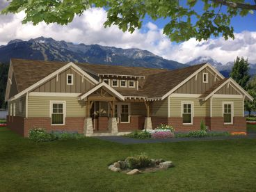 Craftsman House Plan, 062H-0063