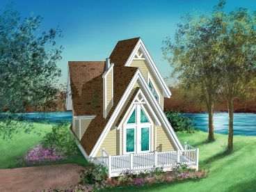 A-Frame House Plan, 072H-0017