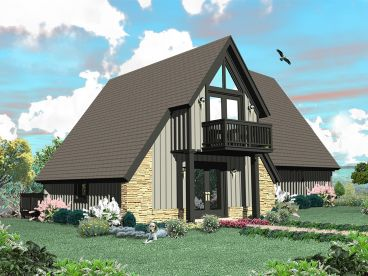 A-Frame House Plan, 006H-0140