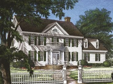 Colonial House Plan, 063H-0143