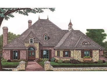 European House Plan, 002H-0028
