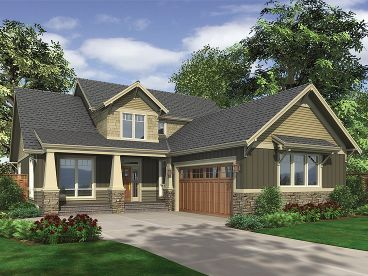 Craftsman House Plan, 034H-0057