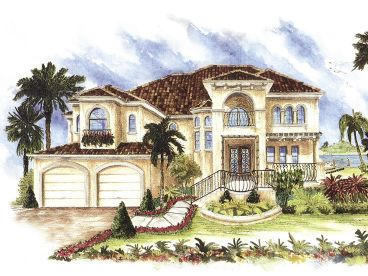 Mediterranean Home Plan, 037H-0111