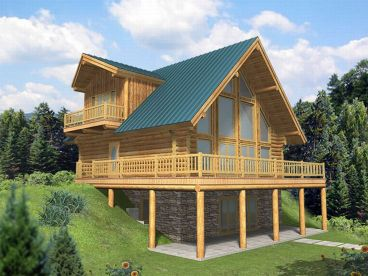 Mountain Log Home, 012L-0032