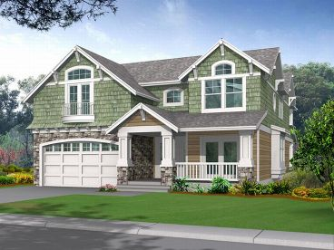 Narrow Lot House Plan, 035H-0018