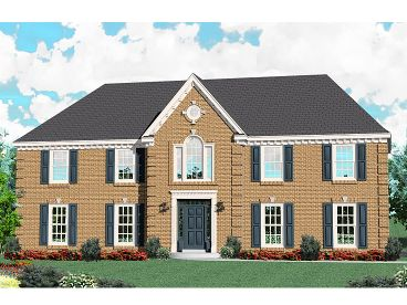 Colonial House Plan, 006H-0142