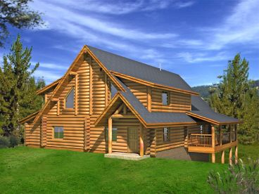 Log Home Design, 012L-0069