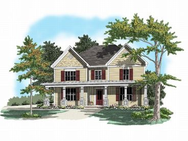 Two-Story Home Plan, 019H-0041