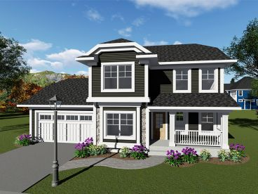 Two-Story House Plan, 020H-0435