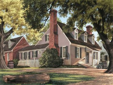 Colonial House Plan, 063H-0075