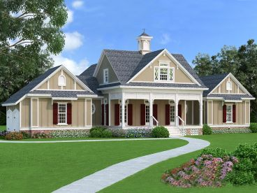Southern Country House Plan, 021H-0252
