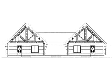 Duplex House Plans Log Cabin Style Multi Family Home