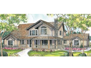 Country House Plan, 051H-0197