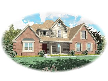 Two-Story House Plan, 006H-0071