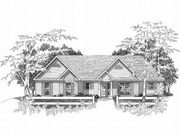 Ranch Home Design, 019H-0105