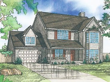 2-Story House Plan, 009H-0022