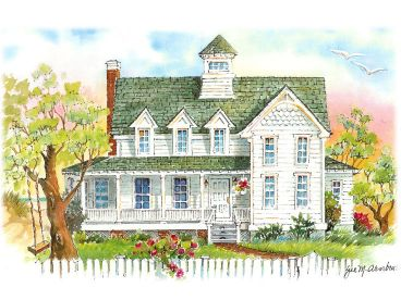 Country Home Plan, 041H-0134