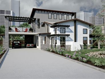 Contemporary Home Plan, 036H-0045