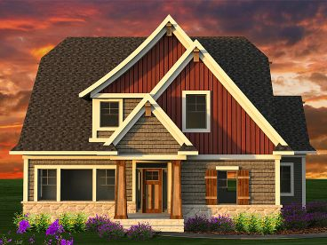 European House Plan, 020H-0384