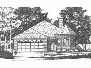 Narrow Lot Home Plan, 015H-0021