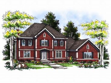 Two-Story House Plan, 020H-0004