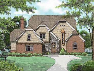 Two-Story House Plan, 029H-0058
