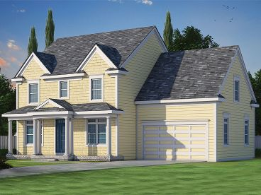 Two-Story House Plan, 031H-0267
