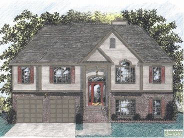 Executive split entry house plans