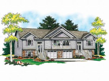 Duplex House Plan, 020M-0007