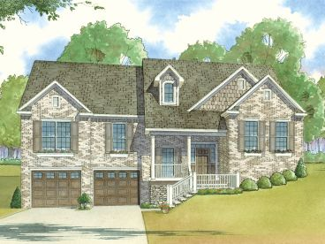 Sloping Lot House Plan, 074H-0013