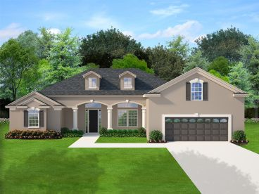 Sunbelt House Plan, 064H-0121