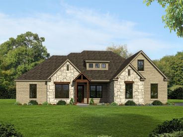 European House Plan, 062H-0156
