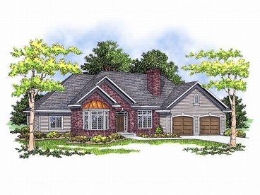 Ranch Home Design, 020H-0033