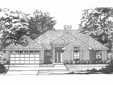 Ranch Home Plan, 015H-0022