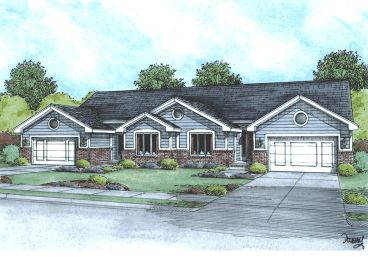 Duplex Home Plan, 031M-0015
