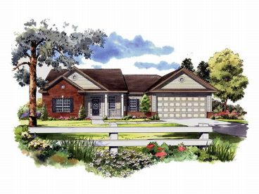 Ranch Home Plan, 001H-0046